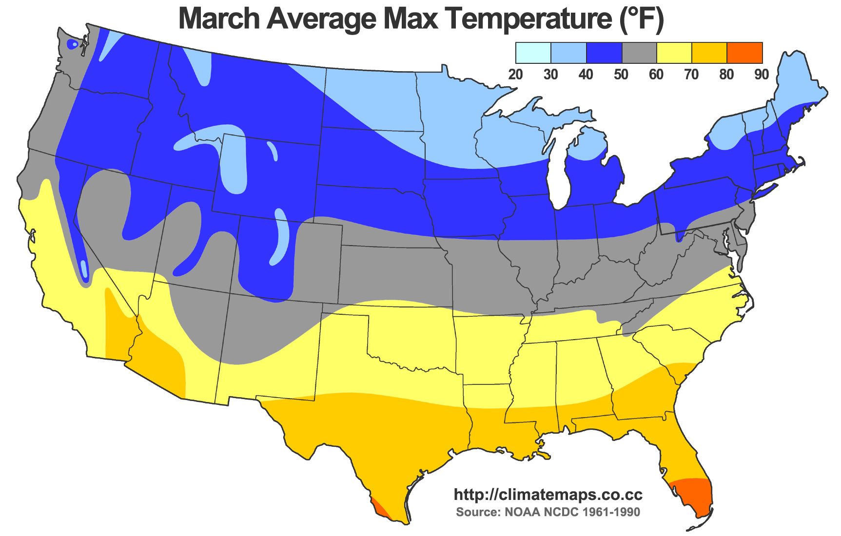 Alex Matus Projects - Us average winter temperature map
