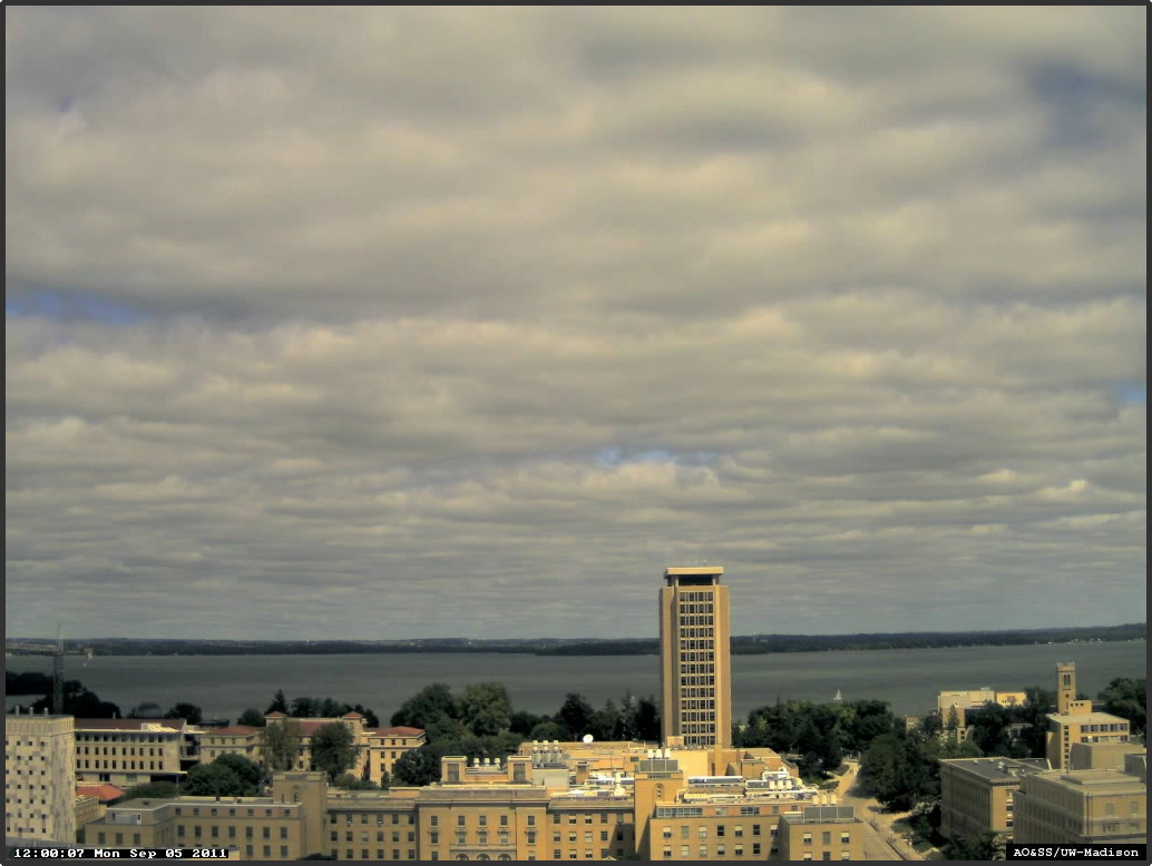 Webcam image from AOSS rooftop (courtesy SSEC).