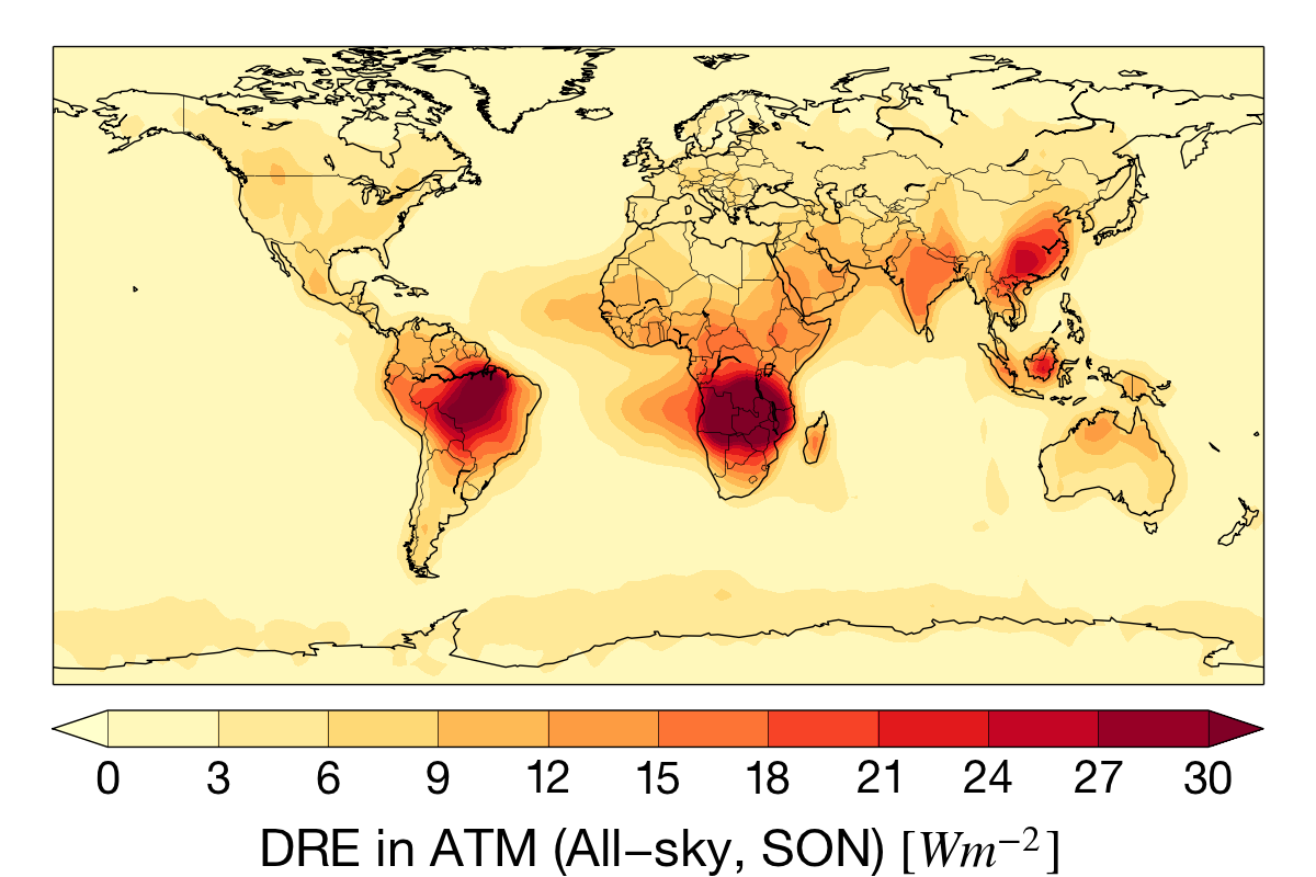 Sep-Nov aerosol absorption for the CloudSat mission.